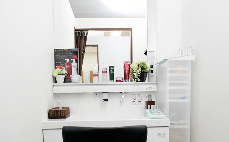 治療前に洗顔